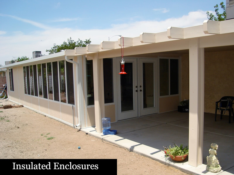 Patio enclosures life rooms screen rooms las vegas patio covers with our ultimate patio covxt for er it stops the heat transfer and keeps you from cleaning out the gutters solutioingenieria Image collections